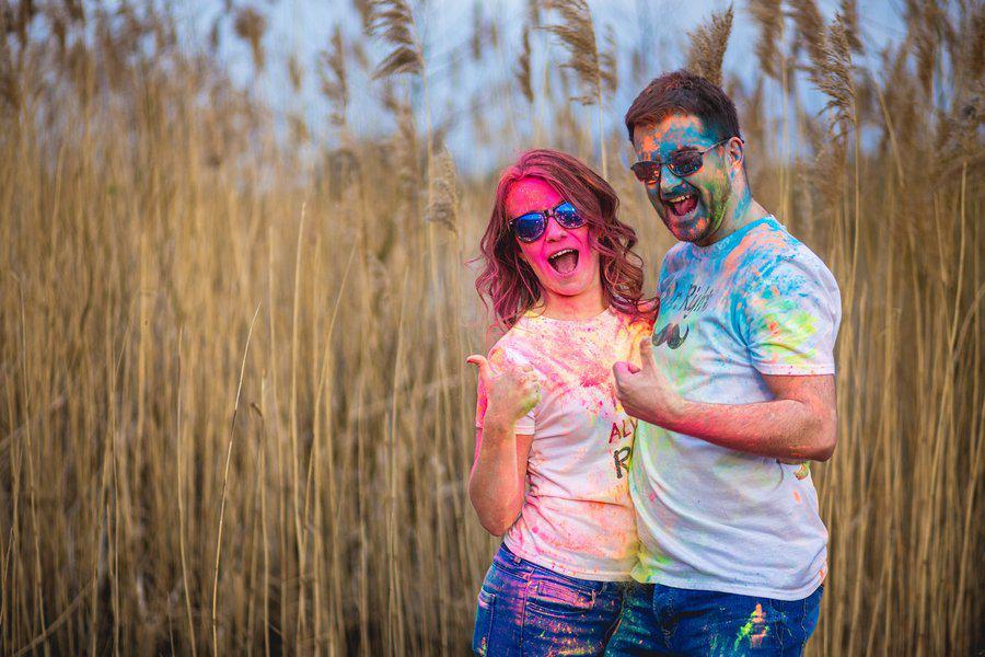 Sandra i Olek – kolorowa sesja narzeczeńska w Szczecinie